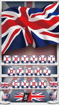 The United Kingdom Flag Keyboard Theme poster