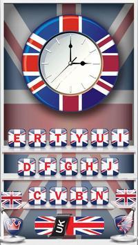The United Kingdom Flag Keyboard Theme apk screenshot
