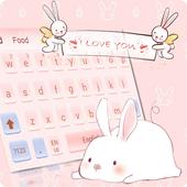 Cute Pink Angel Rabbit Girl Heart Cartoon Keyboard icon