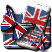 British Flag Butterfly's Wings Keyboard Theme icon