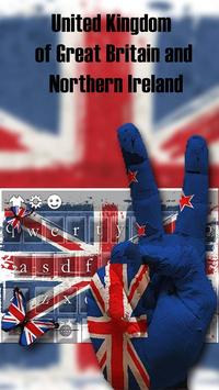 British Flag Butterfly's Wings Keyboard Theme poster