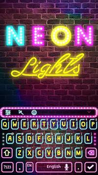 Neon Pink Keyboard Theme poster