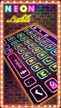 Neon Pink Keyboard Theme apk screenshot