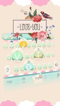 Pink Sweet Cupcake  Park Keyboard Theme apk screenshot