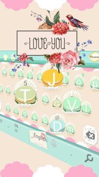 Pink Sweet Cupcake  Park Keyboard Theme screenshot 2