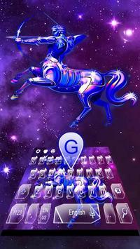 Sagittarius Constellation Warrior Keyboard Theme screenshot 1