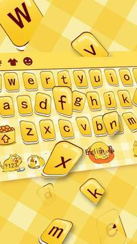 Yellow Cute Cartoon Fat Cat Keyboard Theme apk screenshot