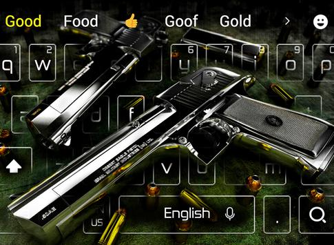 Cool Guns and bullets keyboard theme poster