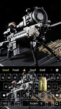 Cool sniper rifle keyboard theme screenshot 3