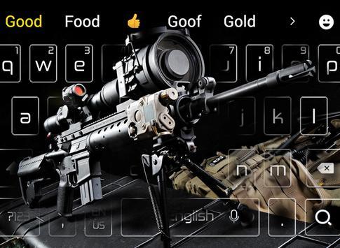 Cool sniper rifle keyboard theme poster