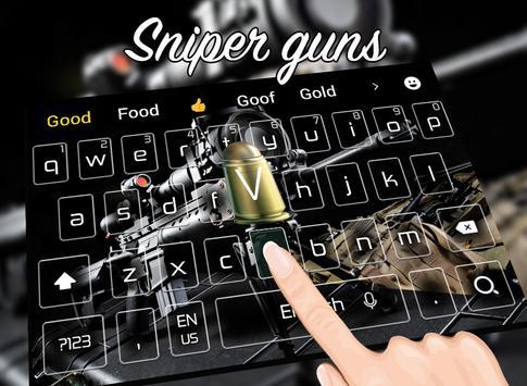 Cool sniper rifle keyboard theme screenshot 1