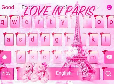 178b485a7 الوردي تيدي الحب في موضوع لوحة المفاتيح باريس for Android - APK Download