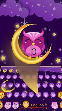 Fluorescent Moonlight owl keyboard poster