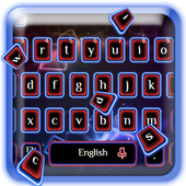 Neon Blue Red Keyboard Theme icon