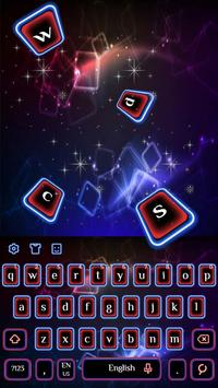 Neon Blue Red Keyboard Theme poster
