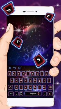 Neon Blue Red Keyboard Theme apk screenshot