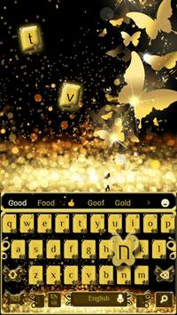Golden glitter Butterfly Keyboard screenshot 1