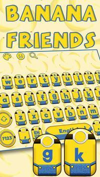 Yellow Cartoon Keyboard Theme (FREE) poster