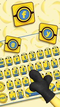 Yellow Cartoon Keyboard Theme (FREE) apk screenshot