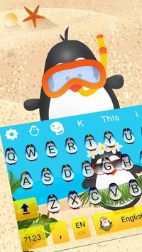 Cute Penguin Keyboard Theme poster