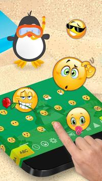 Cute Penguin Keyboard Theme screenshot 1