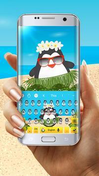 Cute Penguin Keyboard Theme screenshot 2