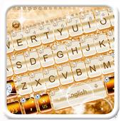 Elegant Gold Diamond Keyboard Theme icon
