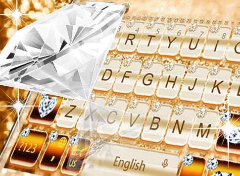 Elegant Gold Diamond Keyboard Theme screenshot 3