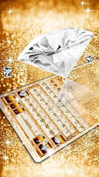 Elegant Gold Diamond Keyboard Theme poster