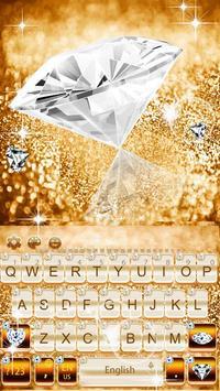 Elegant Gold Diamond Keyboard Theme screenshot 1