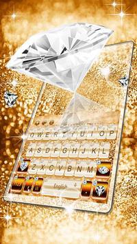Elegant Gold Diamond Keyboard Theme screenshot 2