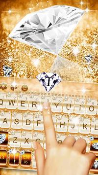 Elegant Gold Diamond Keyboard Theme screenshot 5