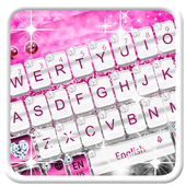 Elegant Pink Diamond Keyboard Theme icon