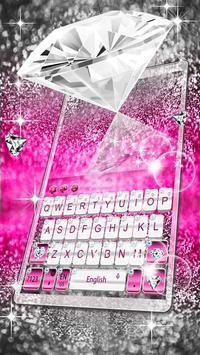 Elegant Pink Diamond Keyboard Theme screenshot 3