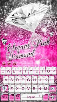 Elegant Pink Diamond Keyboard Theme screenshot 1