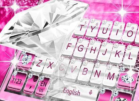 Elegant Pink Diamond Keyboard Theme screenshot 2