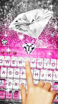 Elegant Pink Diamond Keyboard Theme screenshot 5