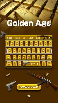 Golden Age Keyboard Theme apk screenshot