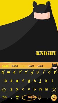 Bat Knight Keyboard Theme apk screenshot