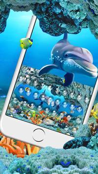 Underwater world adventure dolphins fish keyboard screenshot 1