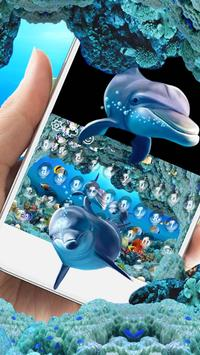 Underwater world adventure dolphins fish keyboard screenshot 2