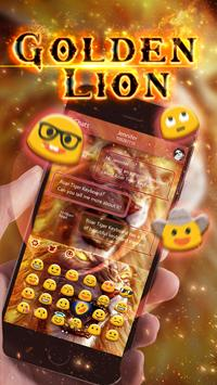 Roaring Lion Keyboard Theme apk screenshot