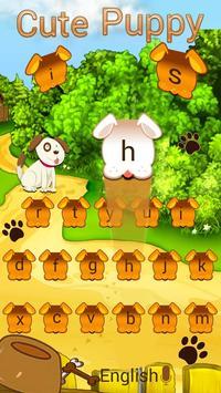 adorable Cute Puppy Keyboard Theme apk screenshot