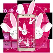 Cute Bunny Lovely Kanin Sleutelbord tema icon