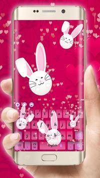 Cute Bunny Lovely Kanin Sleutelbord tema poster