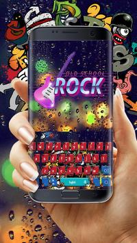 Graffiti Rock music keyboard poster