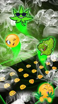 (FREE) Rasta Weed Smoke Keyboard apk screenshot