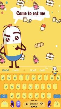 Cute Pills Against The Virus Keyboard Theme apk screenshot