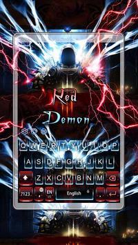 Red Demon Keyboard Theme screenshot 4