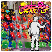 Graffiti color inkjet cool hip hop keyboard icon
